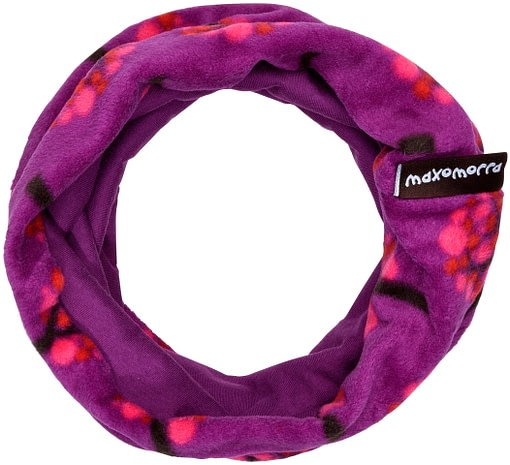 Fleece apple tree scarf buff by Maxomorra