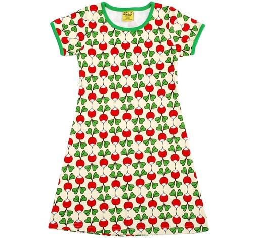 Radish print Scandi cool summer dress
