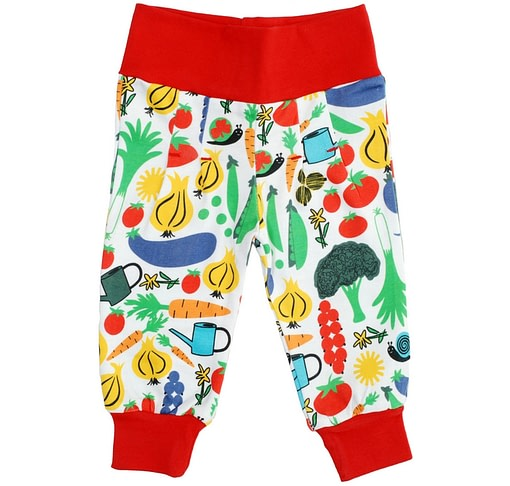 Vegetable garden DUNS Sweden organic cotton baby trousers