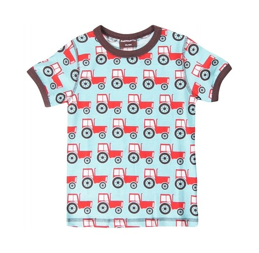Organic cotton bright logo free t-shirt by Maxomorra - Scandi designs