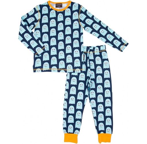 Ghost print organic cotton pyjamas by Maxomorra - Scandi print children's clothes