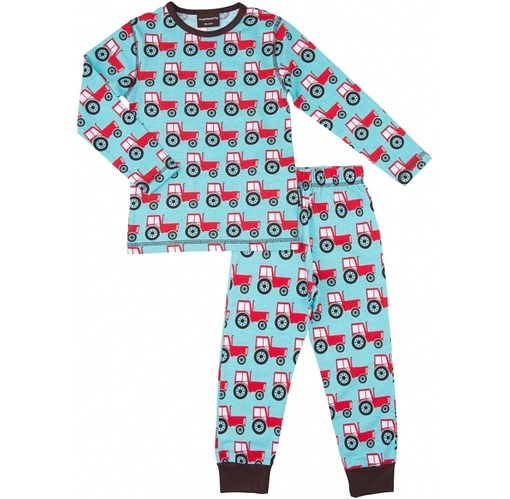 Tractor print organic cotton pyjamas by Maxomorra - Scandi print children's clothes