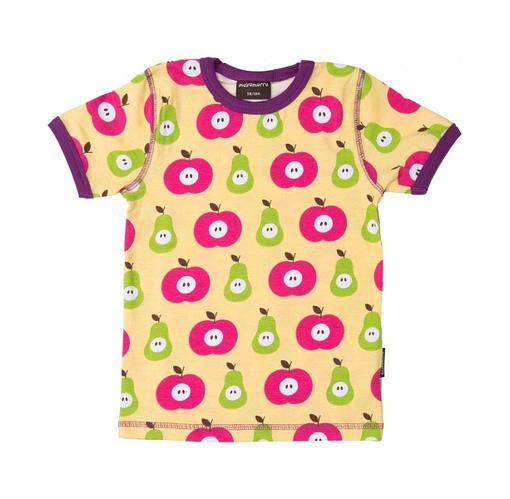 Maxomorra apple and pear Scandi fruit print t-shirt in organic cotton