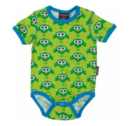 Organic cotton short sleeve baby t-shirt vest by Maxomorra
