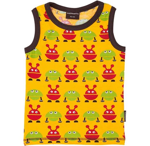 Green and red alien monster vest by Maxomora