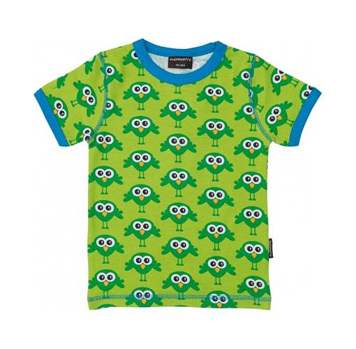 Scandi style green bird print t-shirt by Maxomorra