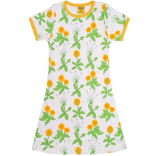 GOTS certified girls dress dandelion by DUNS Sweden