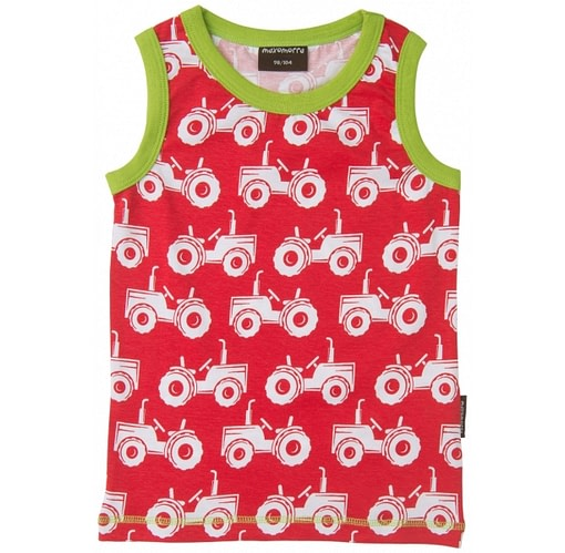 Tractor summer vest in organic cotton by Maxomorra