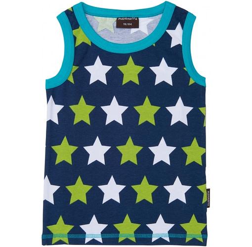 Organic cotton sleeveless tank vest top by Maxomorra
