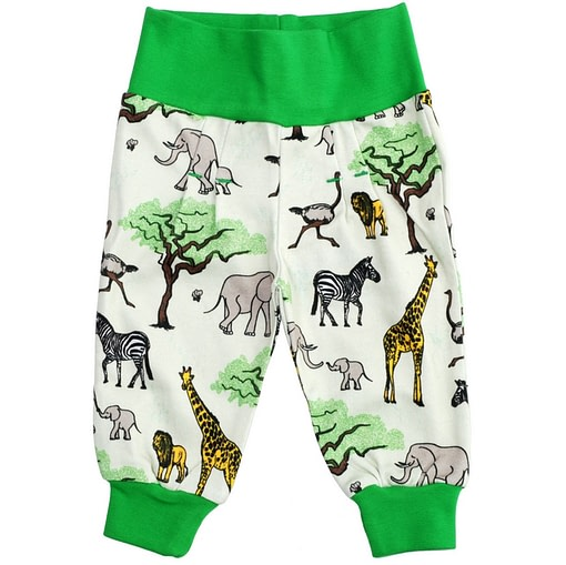 DUNS Sweden Africa print baby trousers in organic cotton 1
