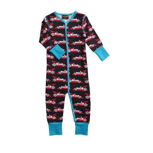 Formula 1 red racing cars design organic sleepsuit