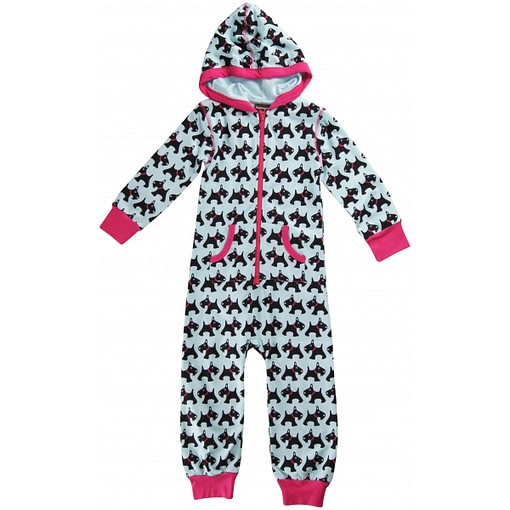 Organic cotton hooded onesie by Maxomorra - dogs