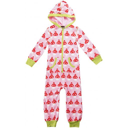 Toadstool print organic cotton onesie pyjamas