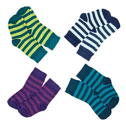 Organic cotton stripey socks by Maxomorra