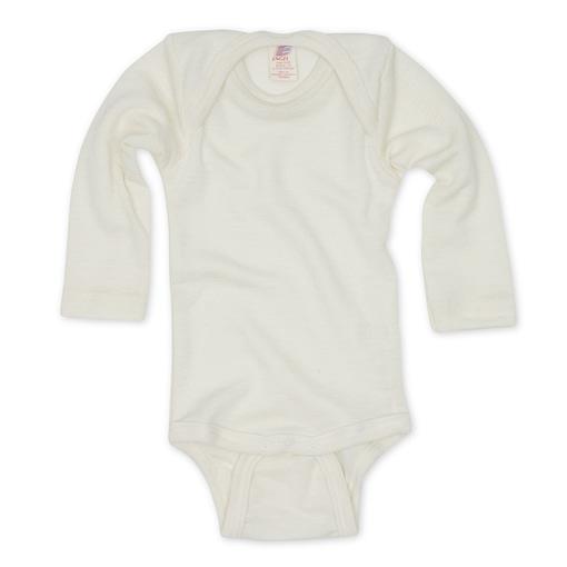 Natural white merino luxury baby vest