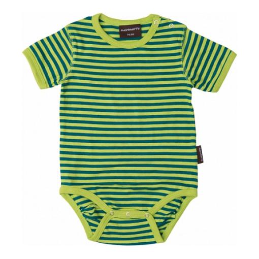 Bright unisex baby vests - green by Maxamoro