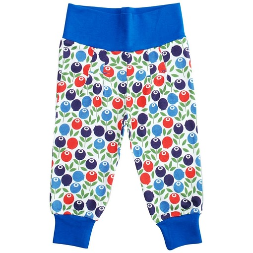 Berry print baby trousers in bright unisex print by DUNS Sweden