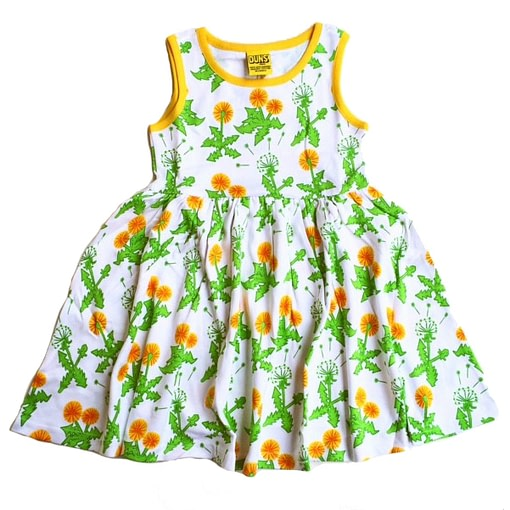 DUNS Sweden Dandelion print organic cotton sleeveless twirly dress (9m) 1