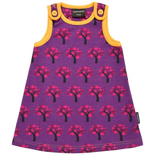 Organic cotton apple tree pinafore dress