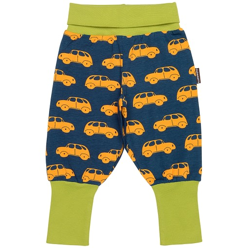 Little car baby trousers in organic cotton by Maxomorra