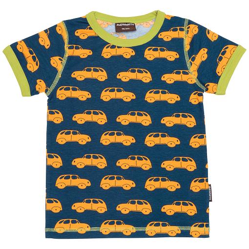 Little yellow cars print t-shirt by Maxomorra
