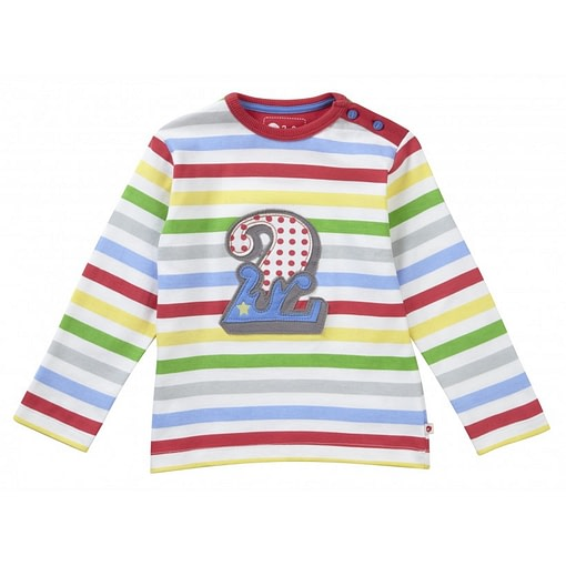 Number 2 long sleeve top by Piccalilly in organic cotton 1