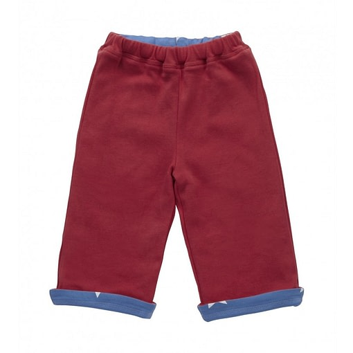 Blue Star reversible trousers by Piccalilly in organic cotton 2