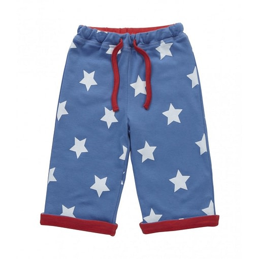 Blue Star reversible trousers by Piccalilly in organic cotton 1