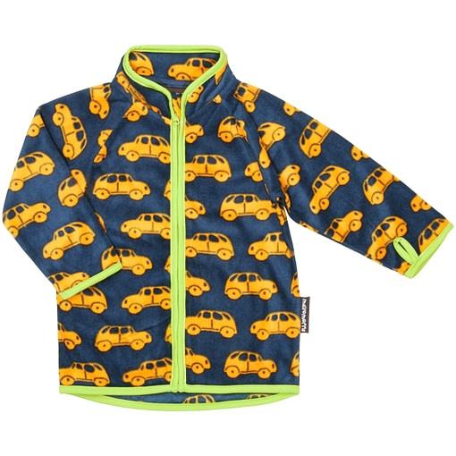 Maxomorra fleece jackets in little cars print
