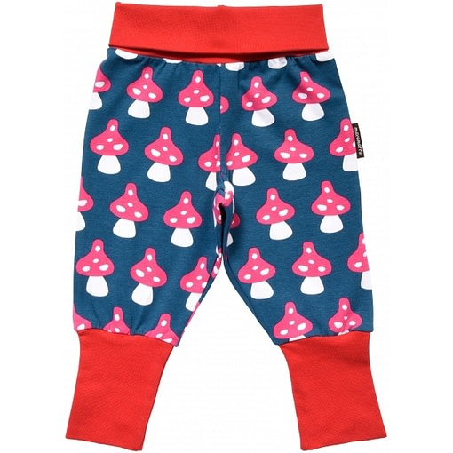 Mushroom baby trousers by Maxomorra in organic cotton 1