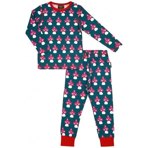 Organic cotton pyjamas in Mushroom print by Maxomorra 1
