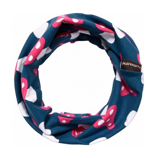 Maxomorra organic cotton tube scarf in mushroom print 1