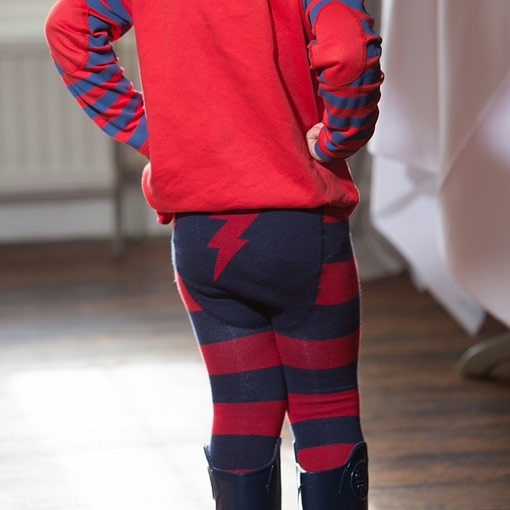 Lightening bolt leggings by Piccalilly in organic cotton 2
