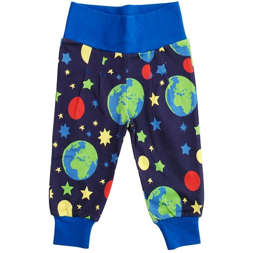 DUNS Sweden earth print baby trousers in organic cotton 1