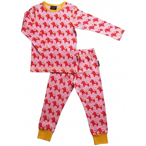 Dala horse pyjamas in organic cotton by Maxomorra