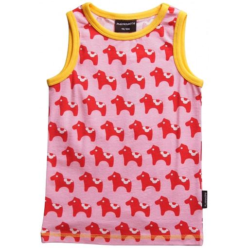 Dala horse organic cotton sleeveless vest