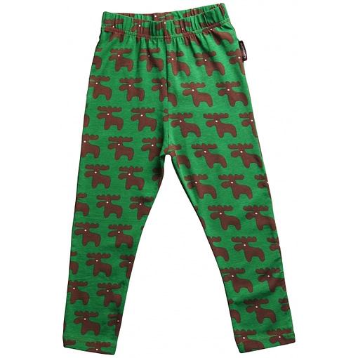Christmas moose leggings for girls and boys by Maxomorra