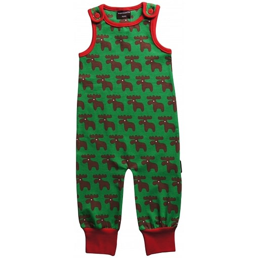 Moose dungarees playsuit by Maxomorra