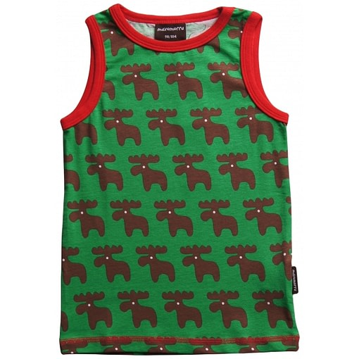 Christmas moose vest in organic cotton by Maxomorra