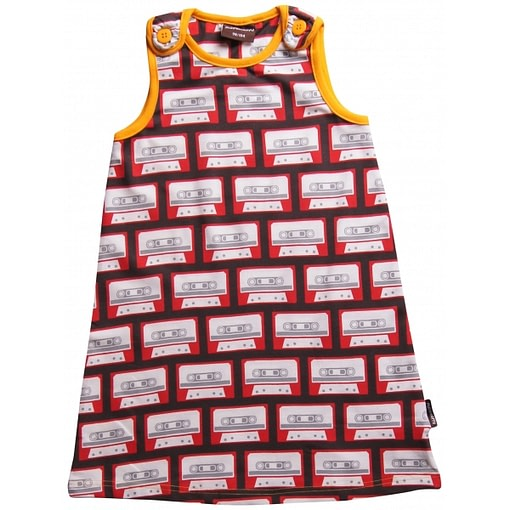 Cassette tape pinafore by Maxomorra