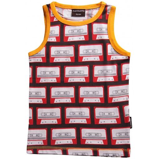 Retro music clothing by Maxomorra - sleeveless organic vest