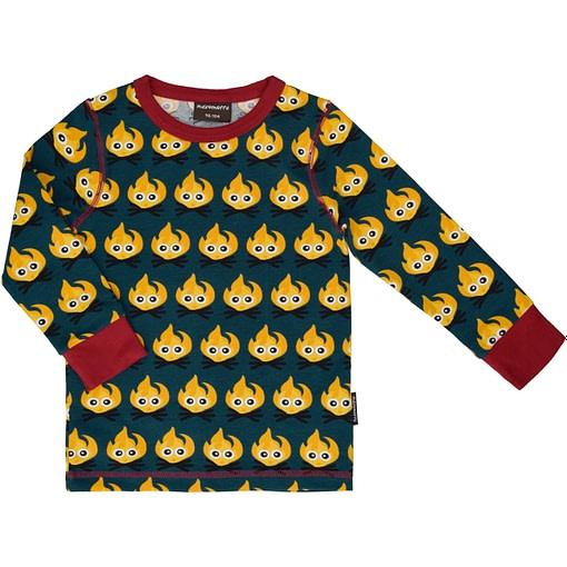 Maxomorra Christmas fire top - organic cotton