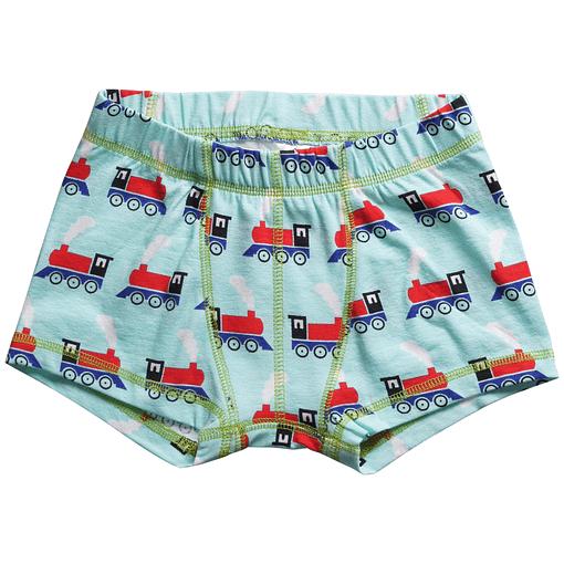 Scandi trains on boxer shorts in organic cotton