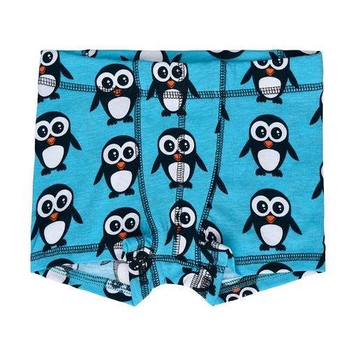 Maxomorra Christmas penguin boxer shorts in organic cotton (18-24m) 1