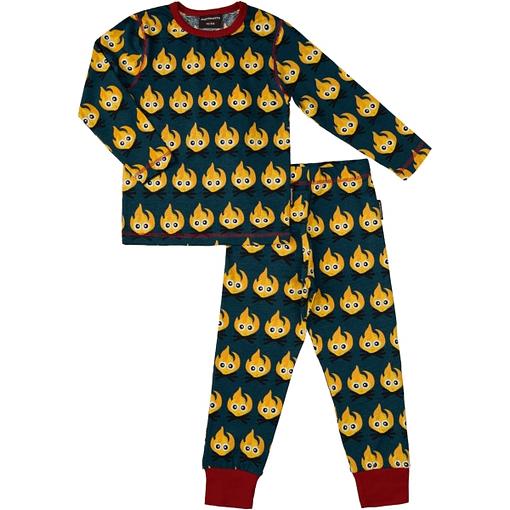 Fires print pyjamas by Maxomorra in organic cotton