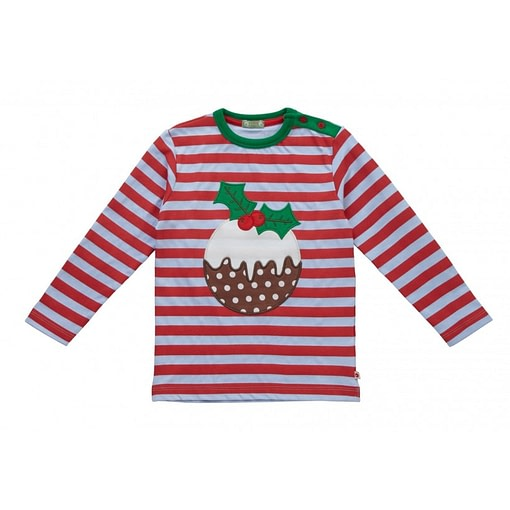 Festive Christmas pudding top in organic cotton by Picalilly