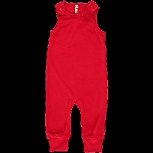 Maxomorra red velour dungarees