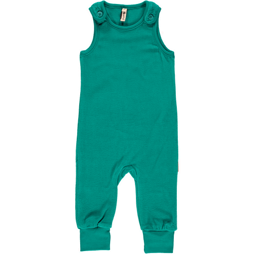 Velour dungarees in organic fabric by Maxomorra