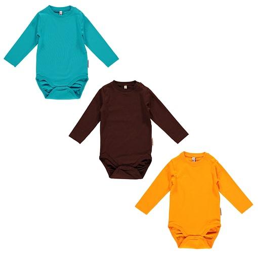 Maxomorra basics turquoise orange and brown