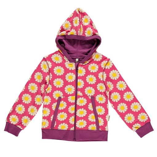 Daisies hooded top by Maxomorra in organic cotton
